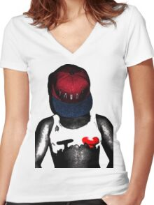 Dirty Tee Women's Fitted V-Neck T-Shirt