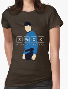 Highly Logical Spock V2 Womens Fitted T-Shirt