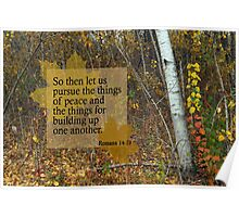 Peace and Building ~ Romans 14:19 Poster