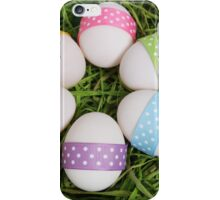 Easter Eggs, Ribbons, Dots - Yellow Pink Purple iPhone Case/Skin