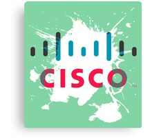 Cisco Logo Splat Canvas Print