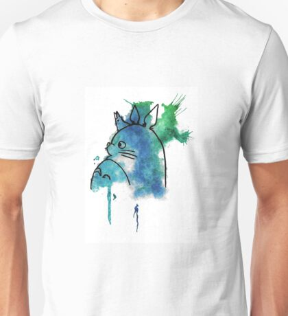 Studio Ghibli Totoro watercolour Unisex T-Shirt