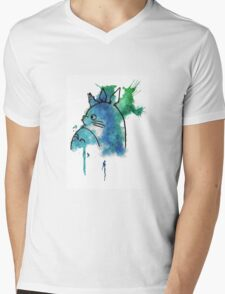 Studio Ghibli Totoro watercolour Mens V-Neck T-Shirt