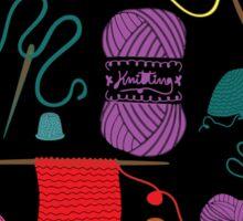 Knitting Sticker