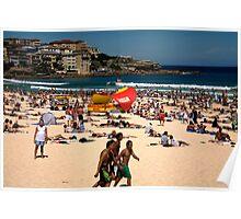 flock to bondi beach Poster