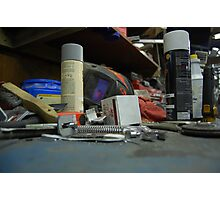 Tools,junk and a penny Photographic Print