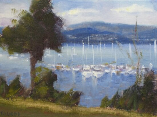 Sandy Bay, Hobart  by Tash  Luedi Art