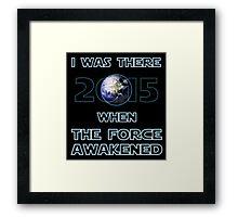 The Force Awakened 2015 Framed Print