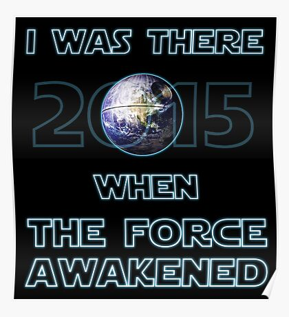 The Force Awakened 2015 Poster