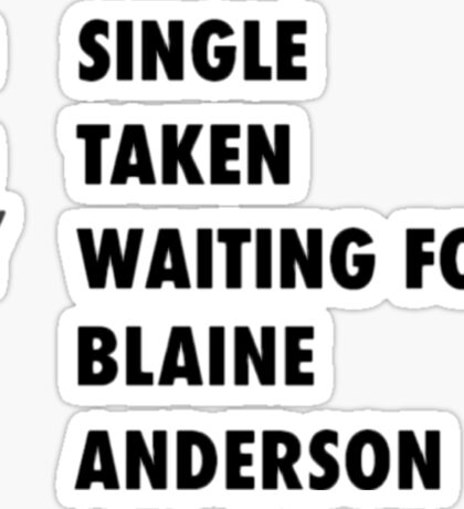 Waiting for Blaine Anderson Sticker