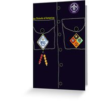 scout Halloween costume Greeting Card