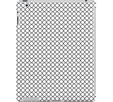 Black Quatrefoil with White Background iPad Case/Skin