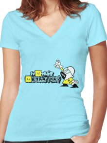 Walters laboratory Women's Fitted V-Neck T-Shirt