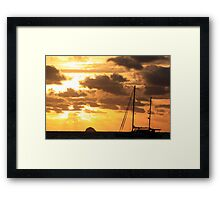 MCC Sunset Sailing Framed Print