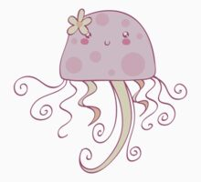 Girly Pink Jellyfish by SaradaBoru
