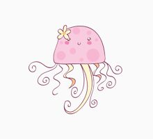 Girly Pink Jellyfish Womens Fitted T-Shirt