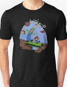 Luigi and Mario calvin and hobbes inspired T-Shirt