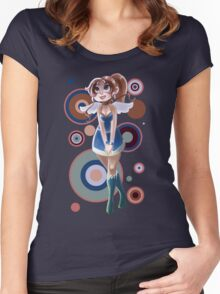 Angel Lady Women's Fitted Scoop T-Shirt