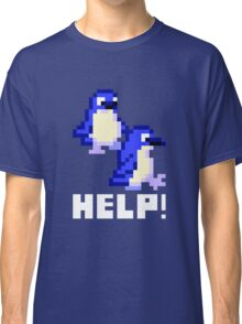Help! Save the Penguins Cute Pixel Art Shirt (Dark) Classic T-Shirt