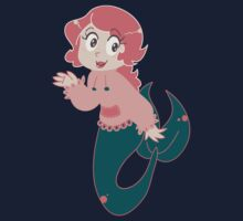 Little Pink Mermaid Girl One Piece - Short Sleeve