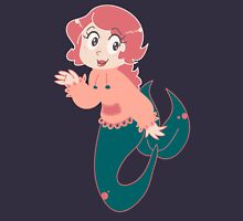 Little Pink Mermaid Girl Womens Fitted T-Shirt