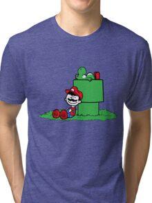 a boy and his dino Tri-blend T-Shirt