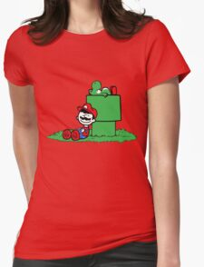 a boy and his dino Womens Fitted T-Shirt