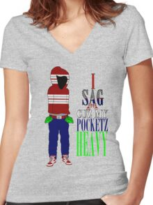 Corporate Pocketz Women's Fitted V-Neck T-Shirt