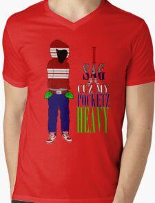 Corporate Pocketz Mens V-Neck T-Shirt