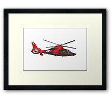 USCG helicopter Framed Print