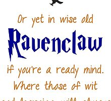 Ravenclaw (Book Colors) by princessbedelia
