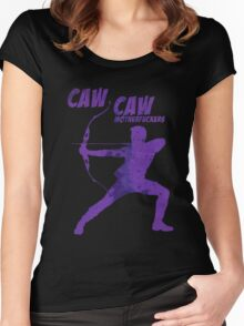CAW CAW, MOTHERF*CKERS Women's Fitted Scoop T-Shirt