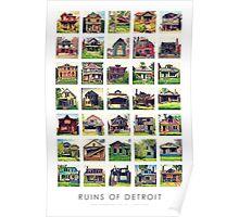 Ruins of Detroit: Abandoned Homes Poster