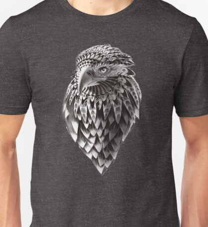Ornate Tribal Shaman Eagle Print Unisex T-Shirt
