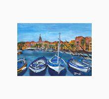 Blue Boats, Sanary sur Mer, Provence Unisex T-Shirt