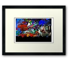 Pulp Planet Terrain Framed Print