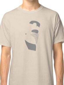Moai from Easter Island - Gray Classic T-Shirt