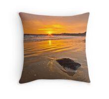 Golden Light of Dawn Throw Pillow