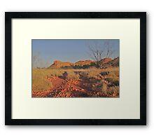 Outback Highway Framed Print