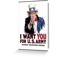 """Uncle Sam """"I Want You""""  Greeting Card"""
