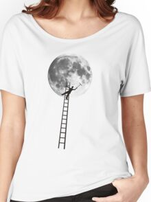 MOONSHINE black and white illustration and silhouette Women's Relaxed Fit T-Shirt