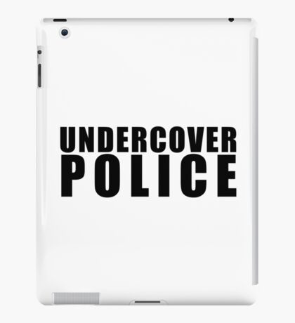 Funny Undercover Police iPad Case/Skin