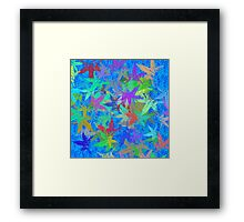 Autumn Leaves Blue Skies Framed Print
