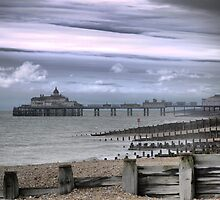 On the Beach in Eastbourne (8) by Larry Lingard-Davis