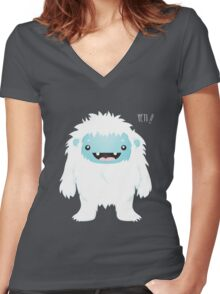 Yeti !! Women's Fitted V-Neck T-Shirt
