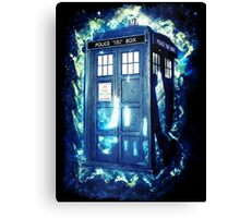 Dr Who Tardis - British Police Box Lost In Space Canvas Print