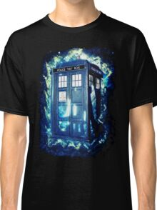 Dr Who Tardis - British Police Box Lost In Space Classic T-Shirt