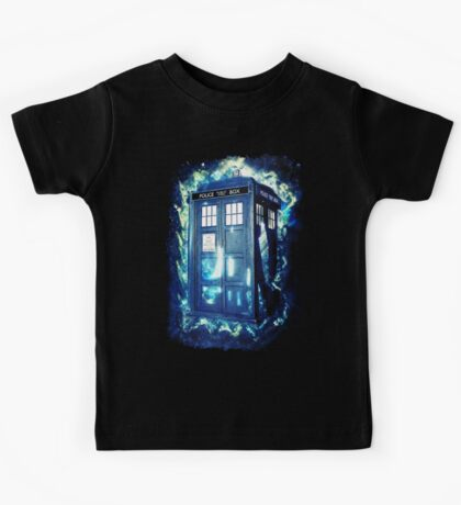 Dr Who Tardis - British Police Box Lost In Space Kids Tee