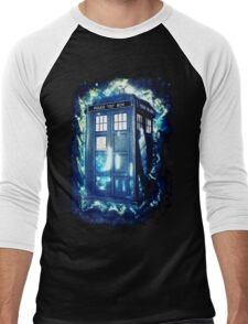 Dr Who Tardis - British Police Box Lost In Space Men's Baseball ¾ T-Shirt