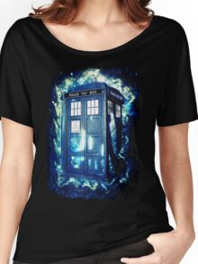 Dr Who Tardis - British Police Box Lost In Space Women's Relaxed Fit T-Shirt